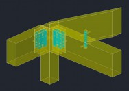金物工法の透視パース2