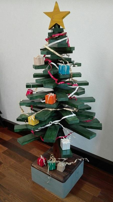 木製 クリスマスツリー 木 wooden christmas tree decorartion